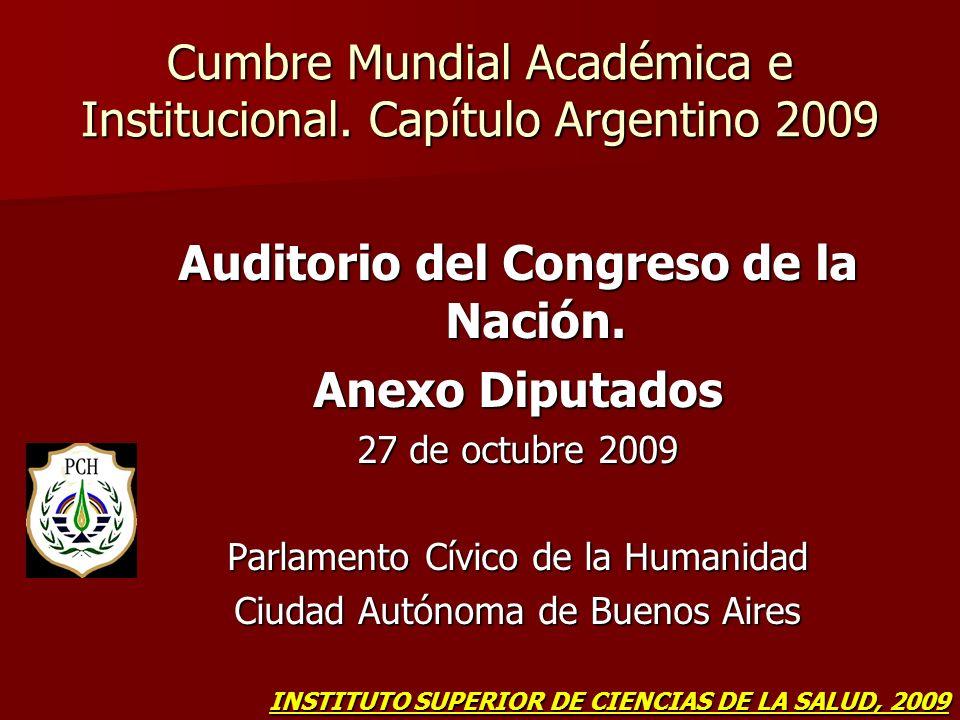 Cumbre Mundial Académica e Institucional. Capítulo Argentino 2009