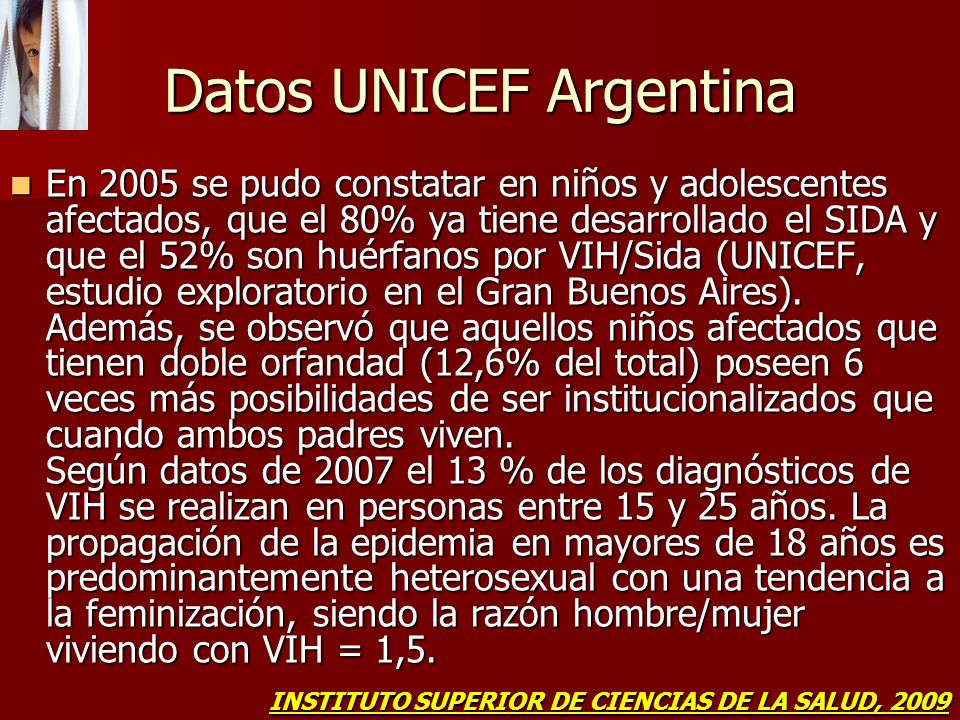 Datos UNICEF Argentina