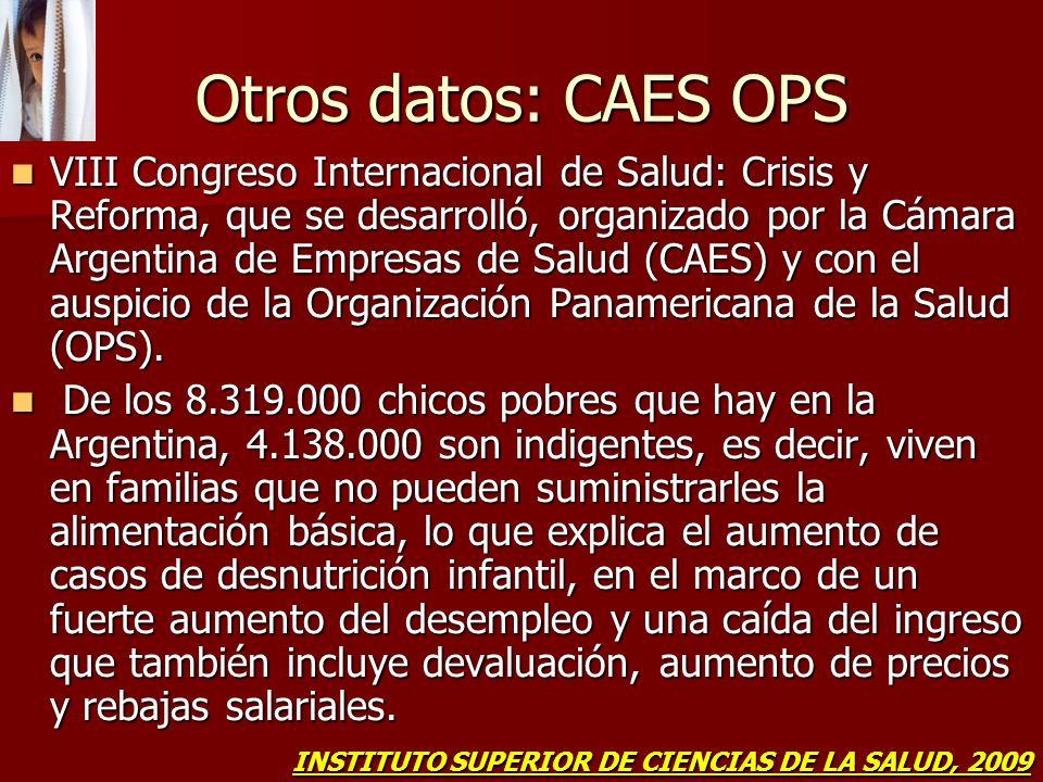 Otros datos: CAES OPS