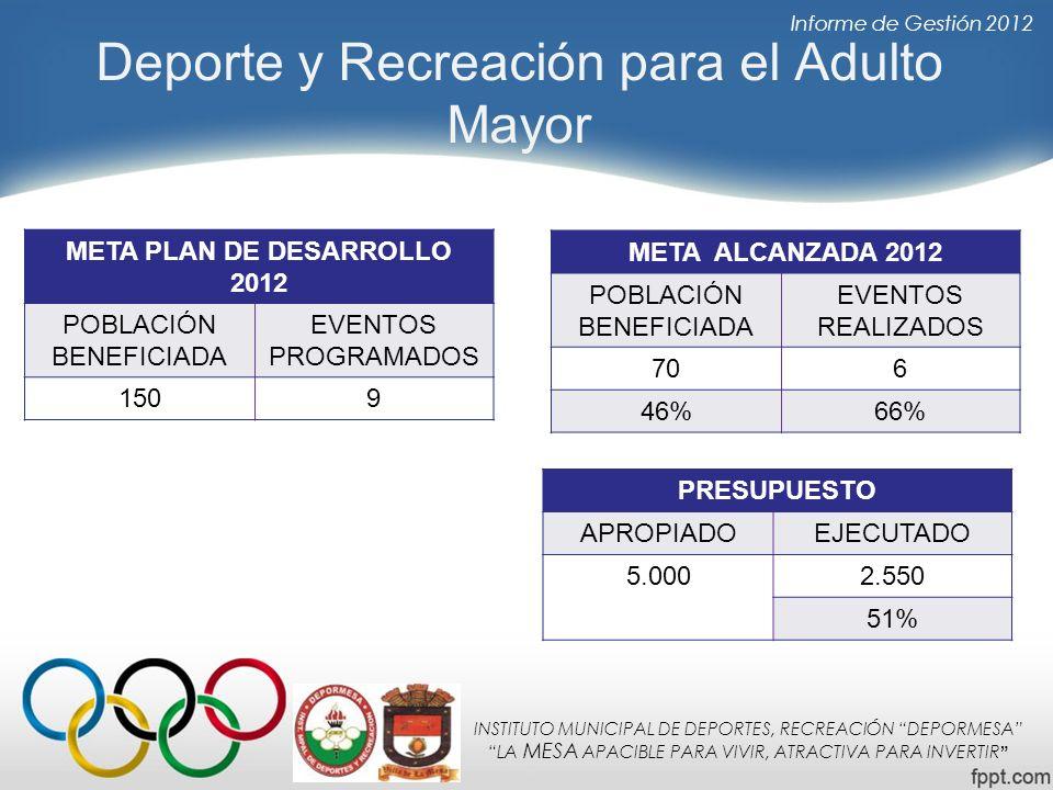 Deporte y Recreación para el Adulto Mayor