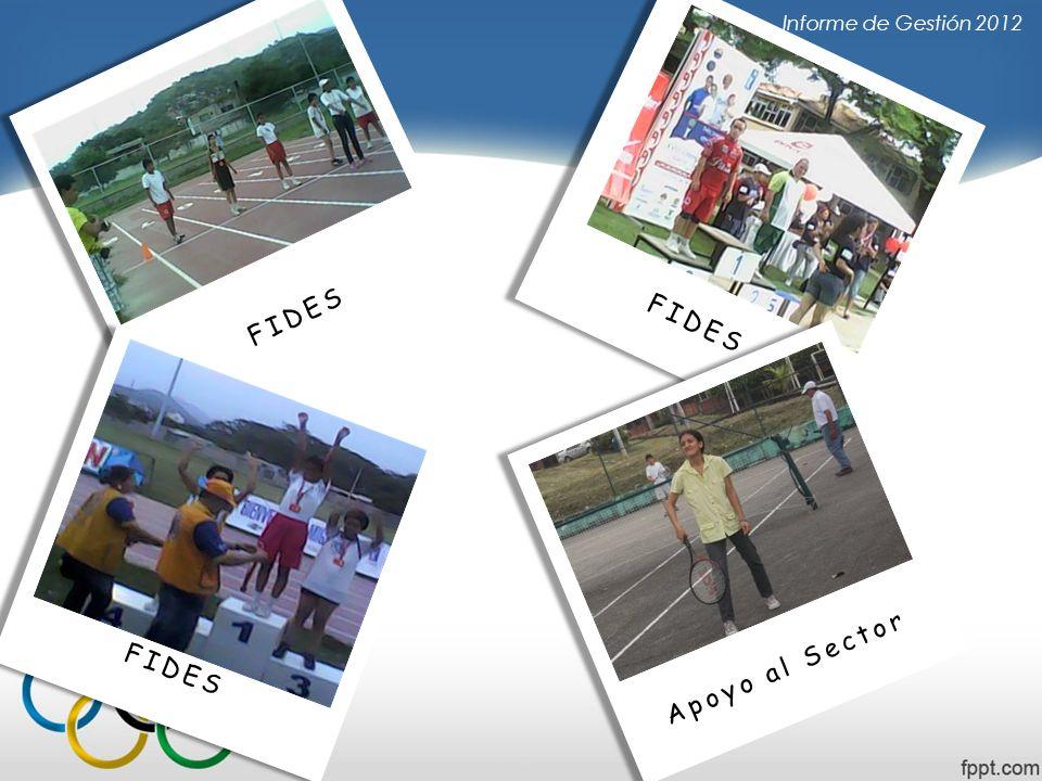 Informe de Gestión 2012 FIDES FIDES FIDES Apoyo al Sector