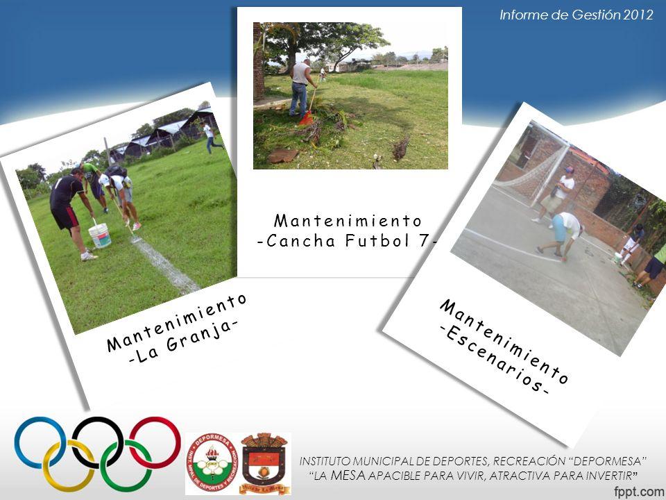 Mantenimiento -Cancha Futbol 7- Mantenimiento -La Granja-