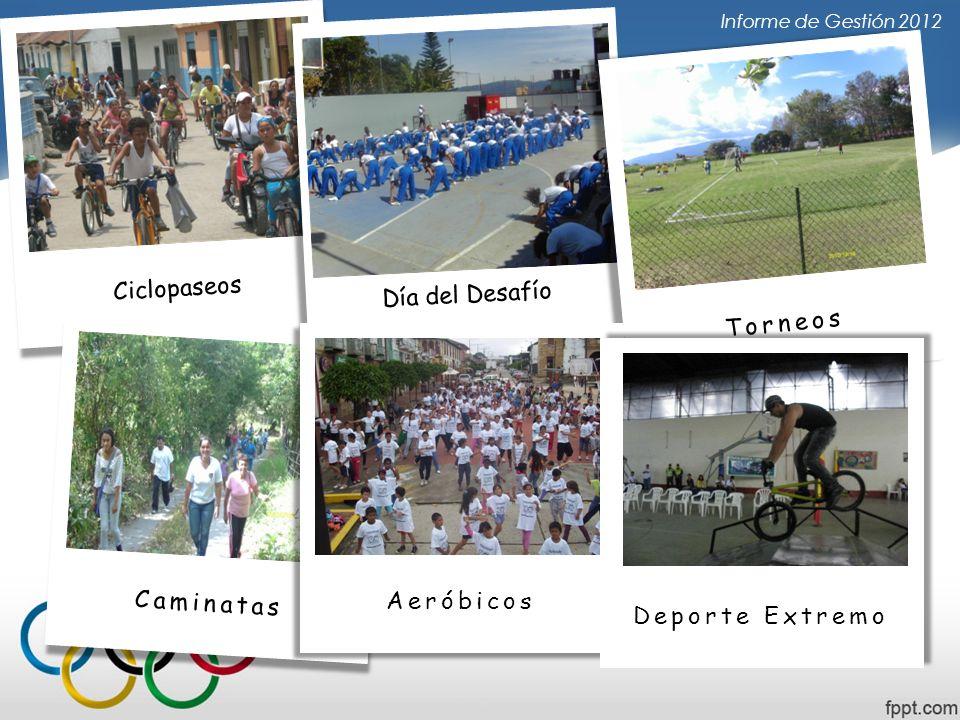 Ciclopaseos Día del Desafío Torneos Caminatas Aeróbicos