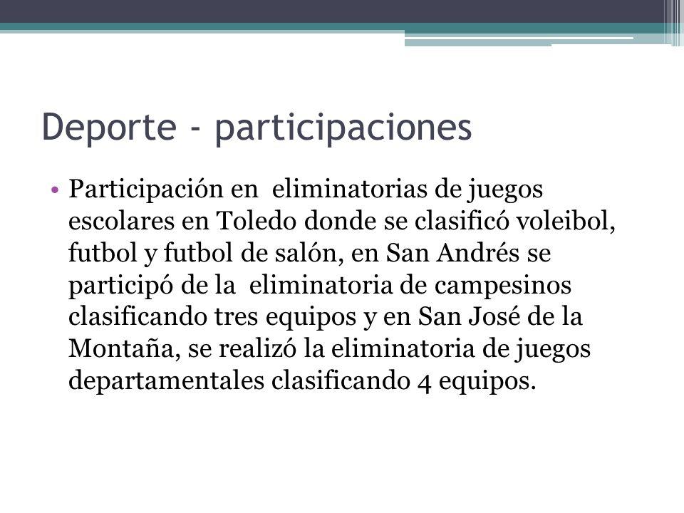 Deporte - participaciones