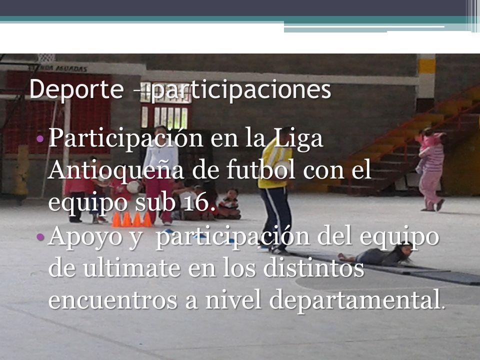 Deporte – participaciones