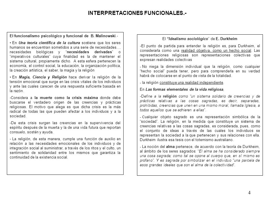 INTERPRETACIONES FUNCIONALES.-