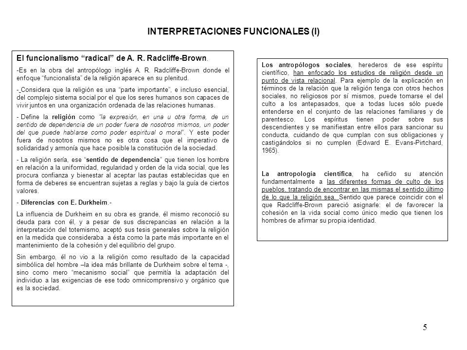 INTERPRETACIONES FUNCIONALES (I)
