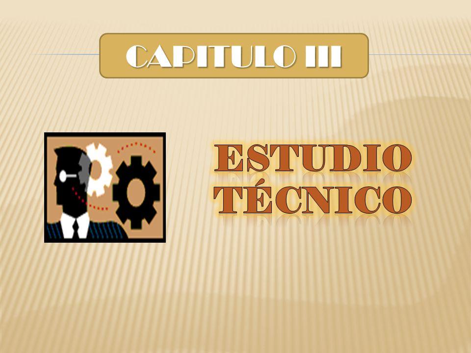 CAPITULO III Estudio técnico