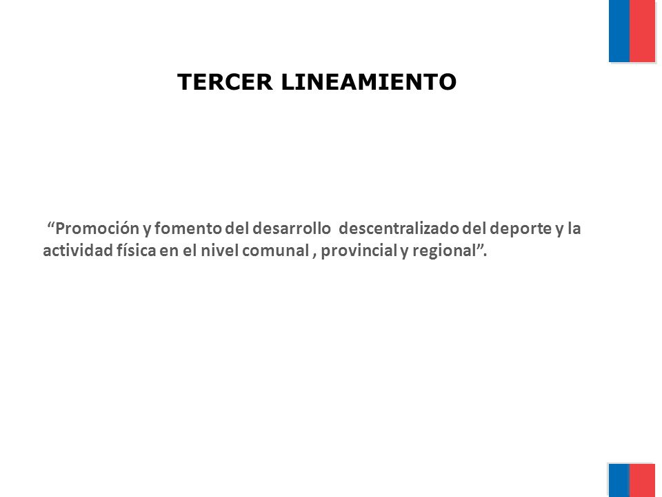 TERCER LINEAMIENTO