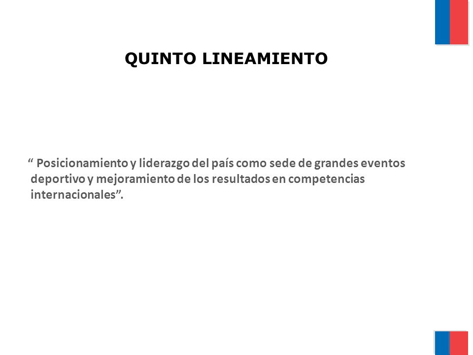 QUINTO LINEAMIENTO