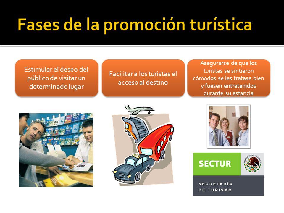Fases de la promoción turística