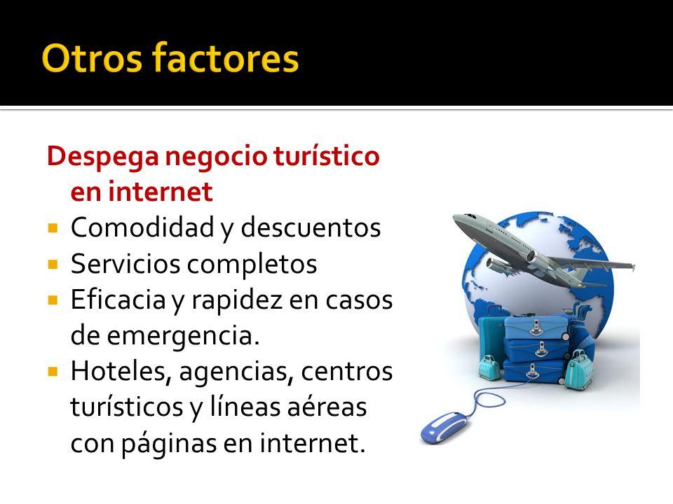 Otros factores Despega negocio turístico en internet