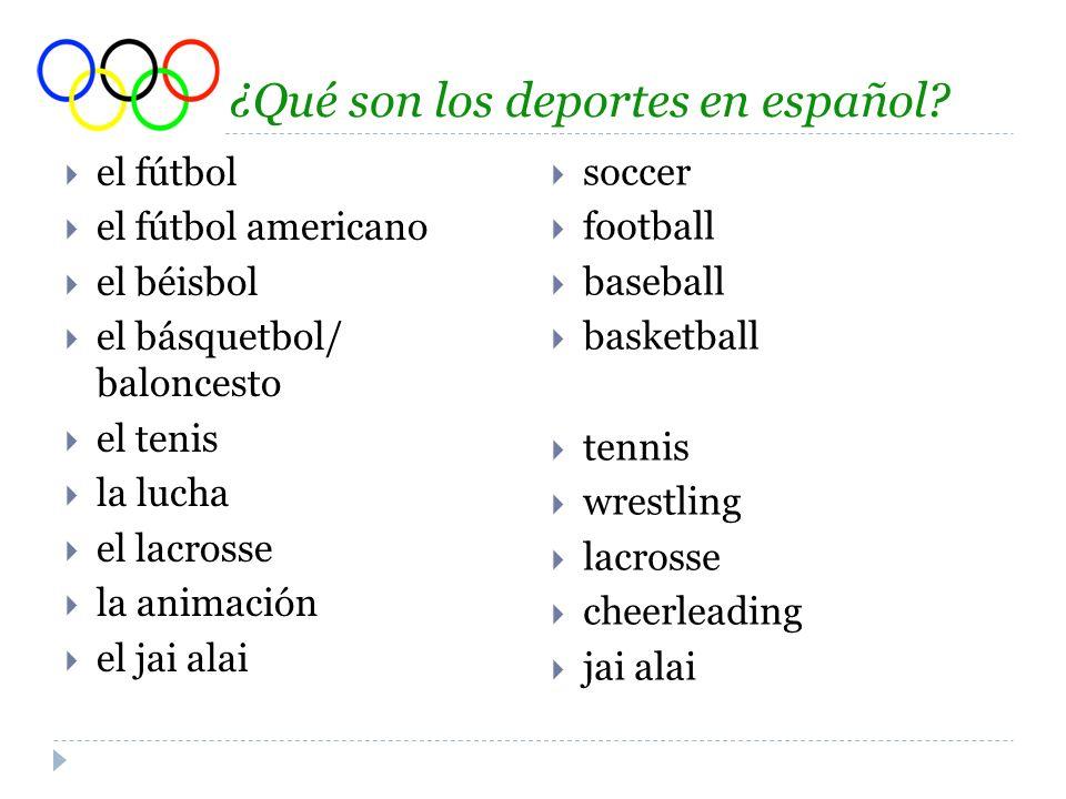 ¿Qué son los deportes en español