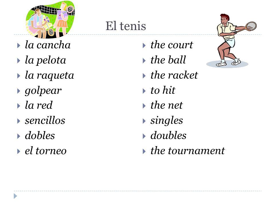 El tenis la cancha la pelota la raqueta golpear la red sencillos