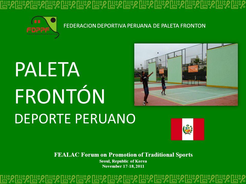 PALETA FRONTÓN DEPORTE PERUANO