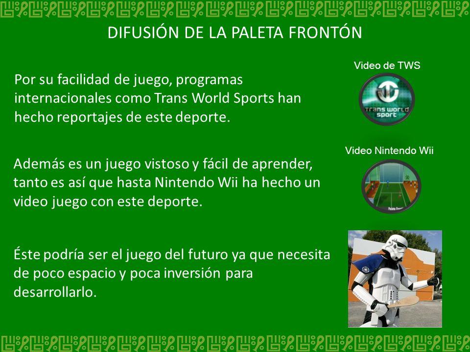 DIFUSIÓN DE LA PALETA FRONTÓN