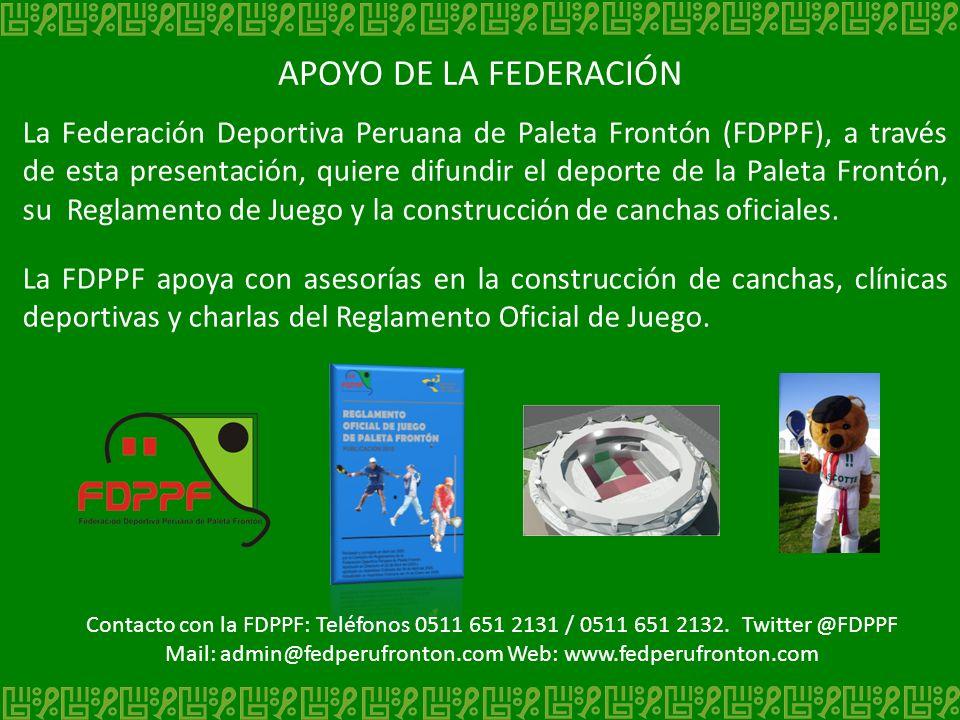 APOYO DE LA FEDERACIÓN