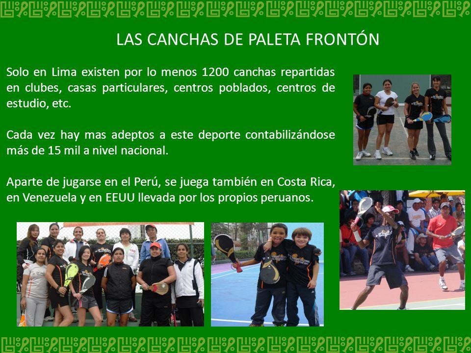 LAS CANCHAS DE PALETA FRONTÓN