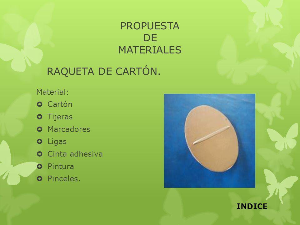PROPUESTA DE MATERIALES