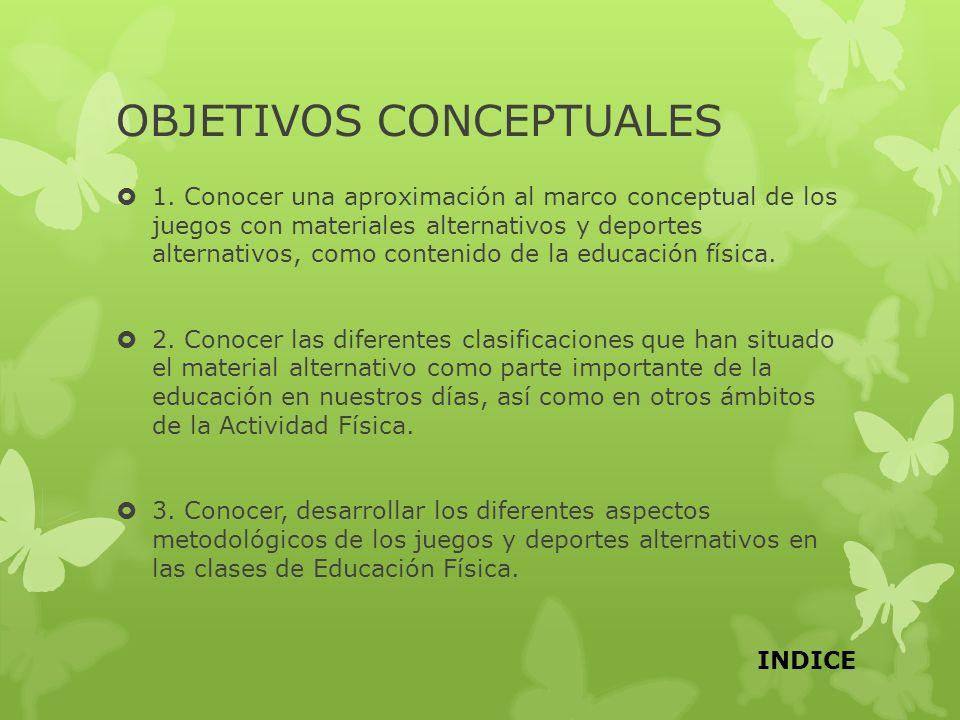 OBJETIVOS CONCEPTUALES