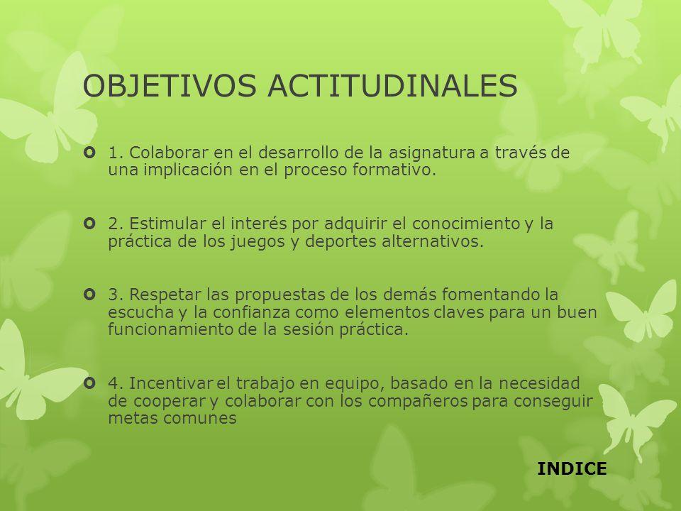 OBJETIVOS ACTITUDINALES