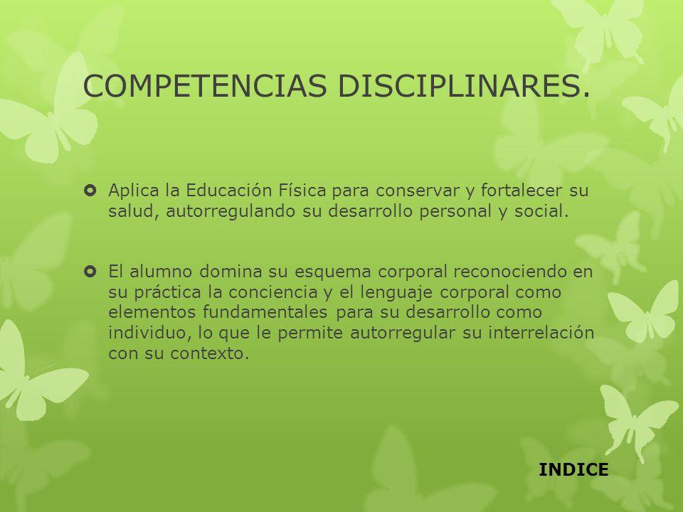 COMPETENCIAS DISCIPLINARES.