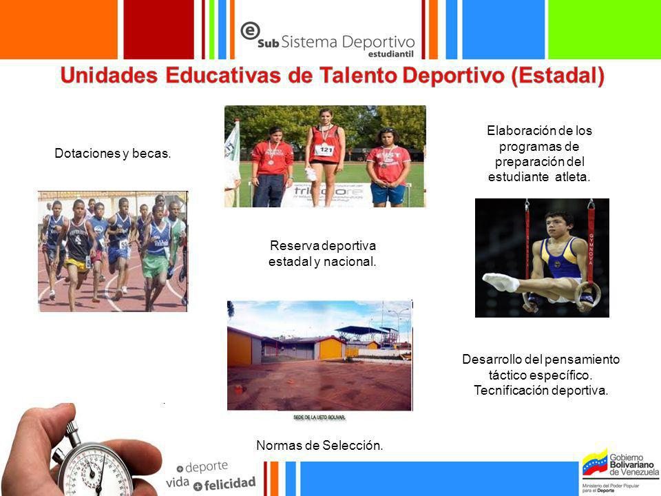 Unidades Educativas de Talento Deportivo (Estadal)