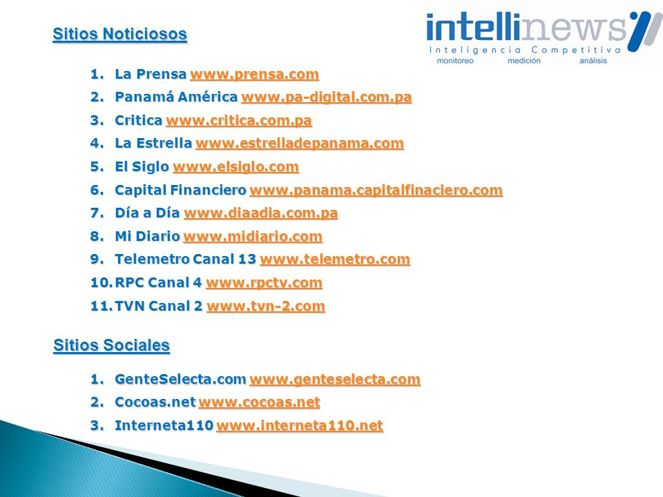 Sitios Noticiosos Sitios Sociales La Prensa www.prensa.com