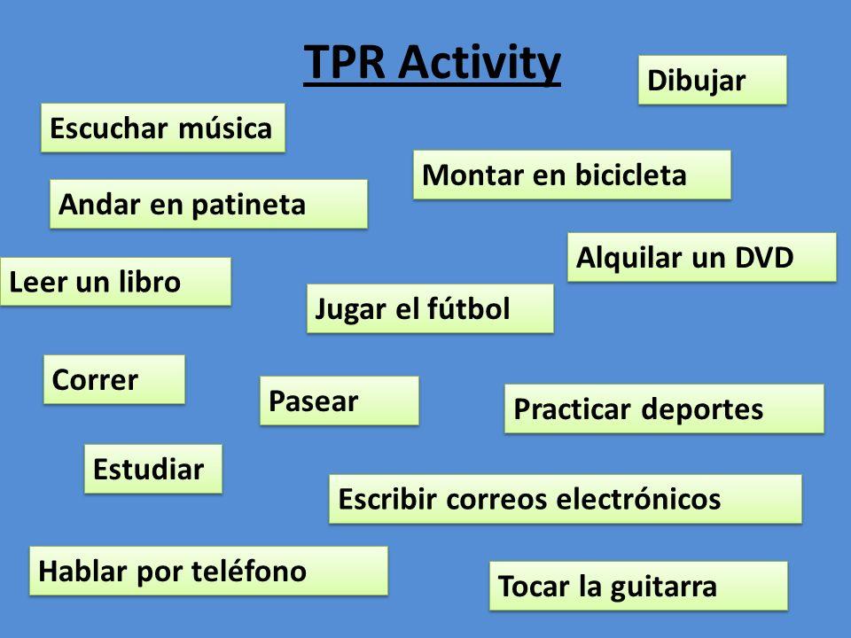 TPR Activity Dibujar Escuchar música Montar en bicicleta