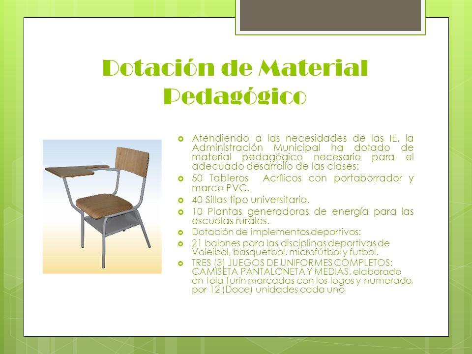 Dotación de Material Pedagógico