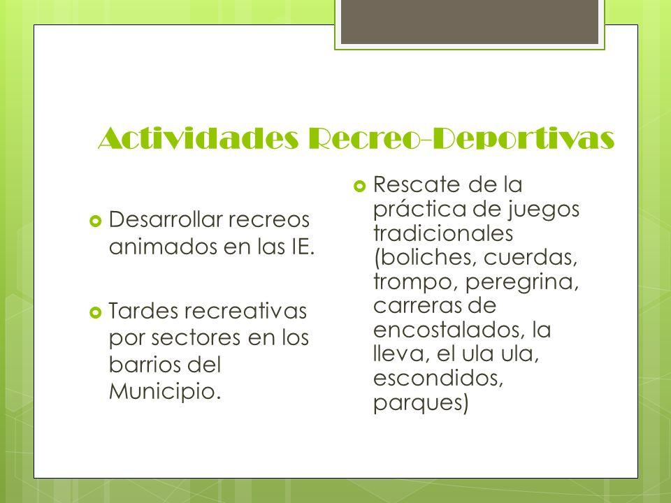 Actividades Recreo-Deportivas