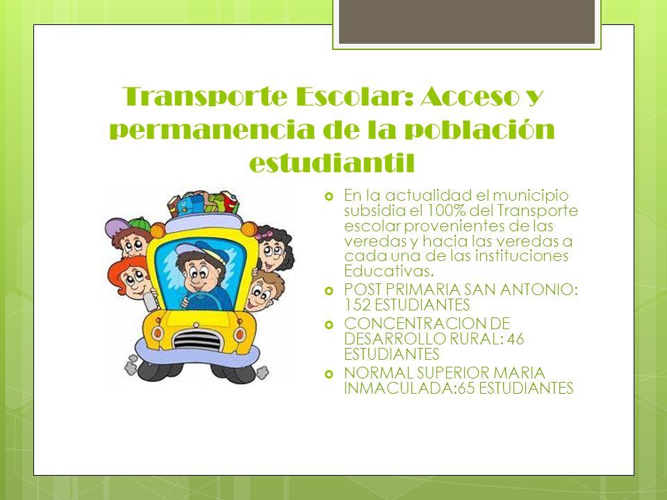 Transporte Escolar: Acceso y permanencia de la población estudiantil