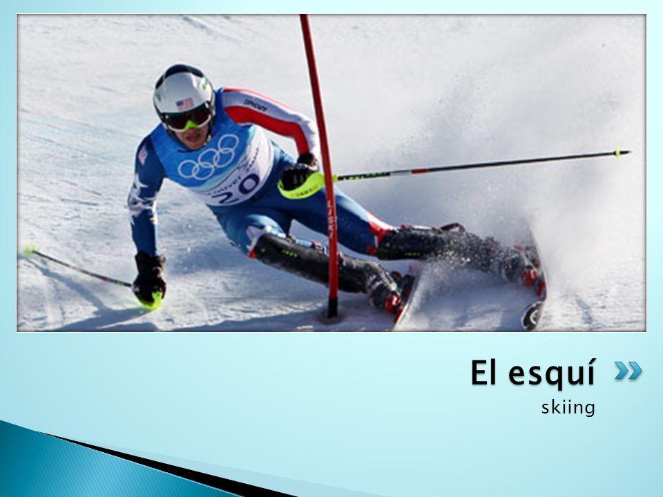 El esquí skiing