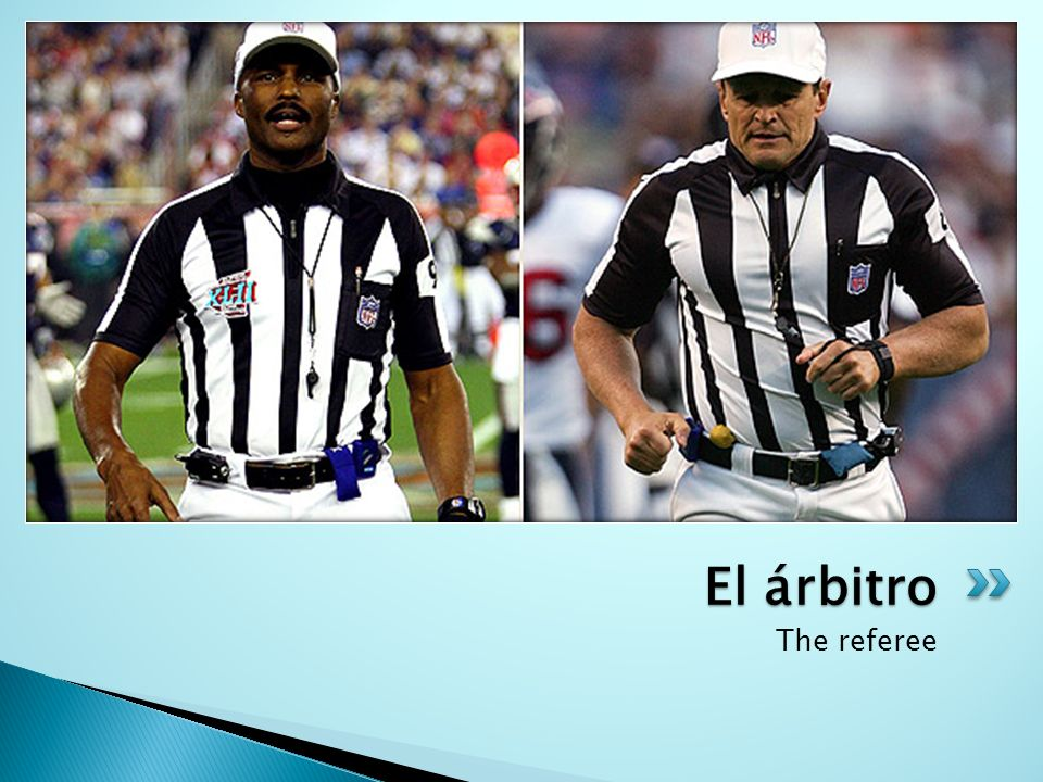 El árbitro The referee