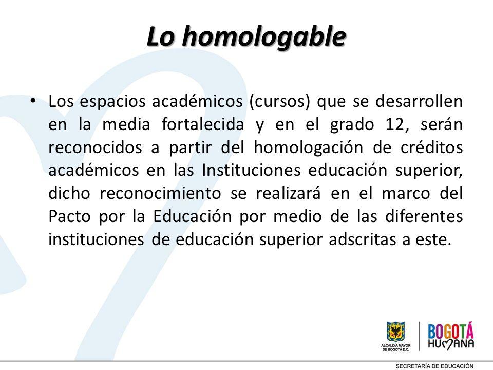Lo homologable