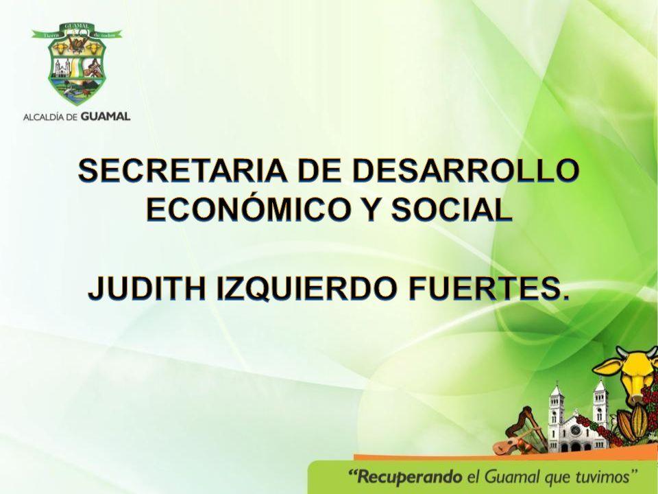 SECRETARIA DE DESARROLLO ECONÓMICO Y SOCIAL JUDITH IZQUIERDO FUERTES.