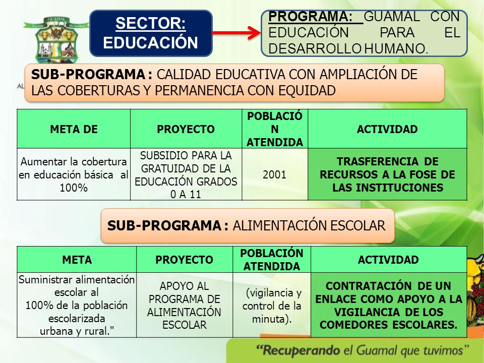 TRASFERENCIA DE RECURSOS A LA FOSE DE LAS INSTITUCIONES