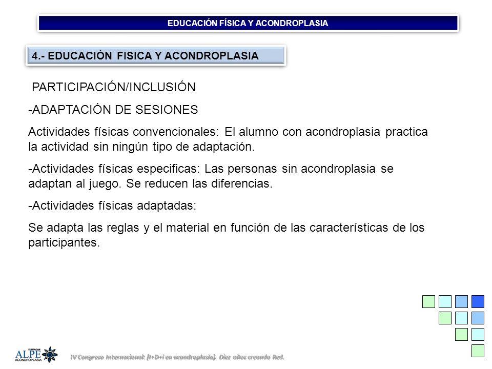 EDUCACIÓN FÍSICA Y ACONDROPLASIA