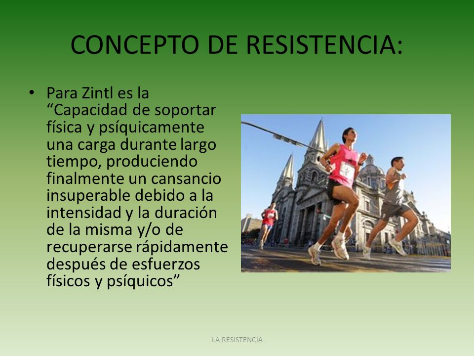 CONCEPTO DE RESISTENCIA: