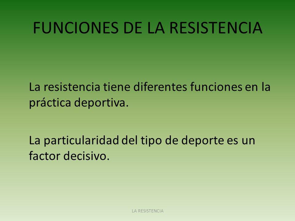 FUNCIONES DE LA RESISTENCIA