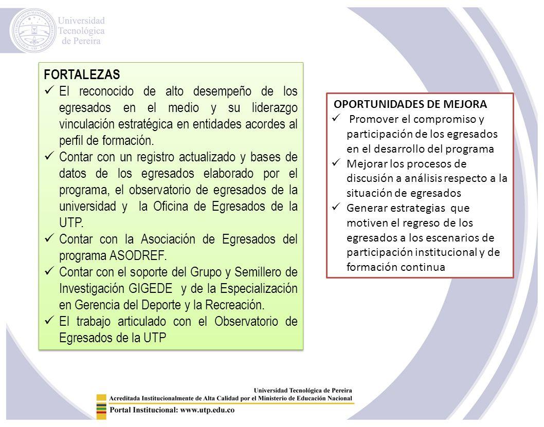 Contar con la Asociación de Egresados del programa ASODREF.