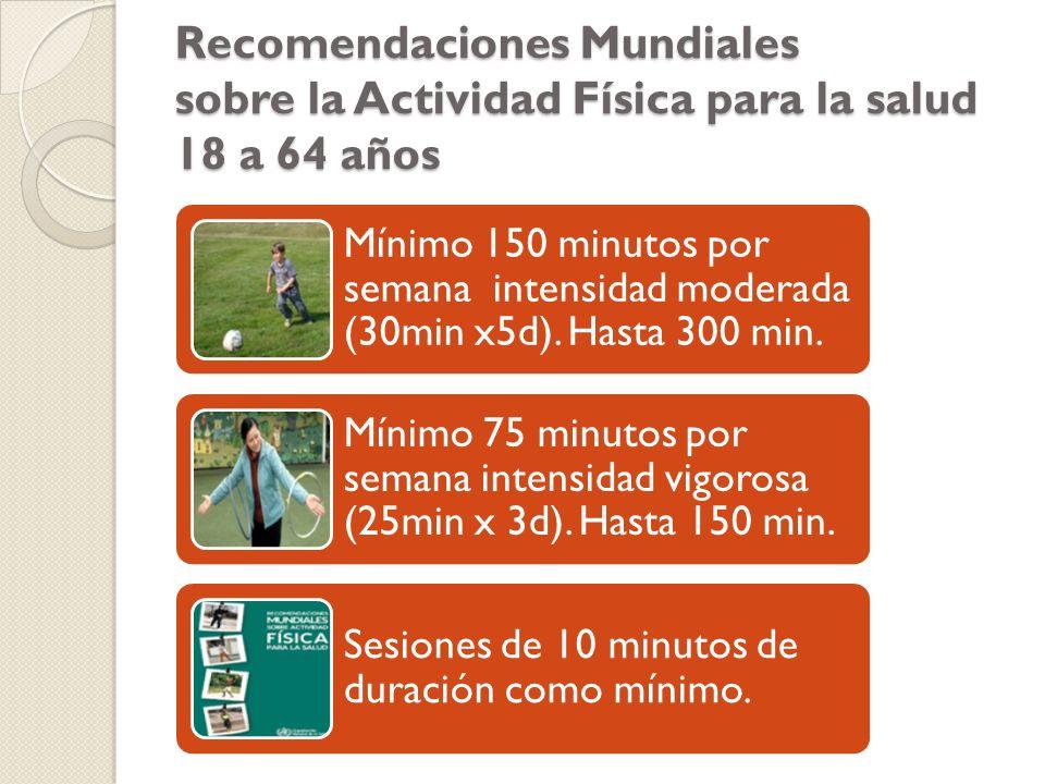 Recomendaciones Mundiales sobre la Actividad Física para la salud 18 a 64 años