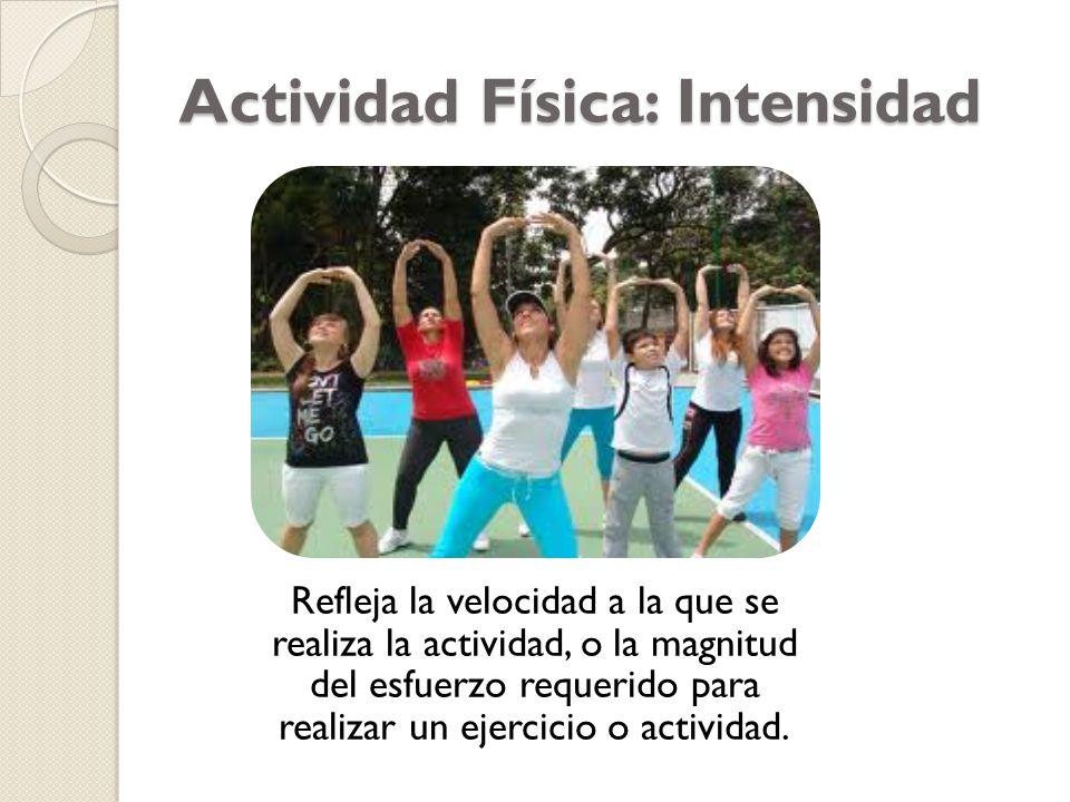 Actividad Física: Intensidad