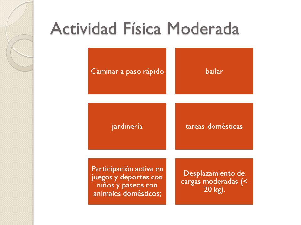 Actividad Física Moderada