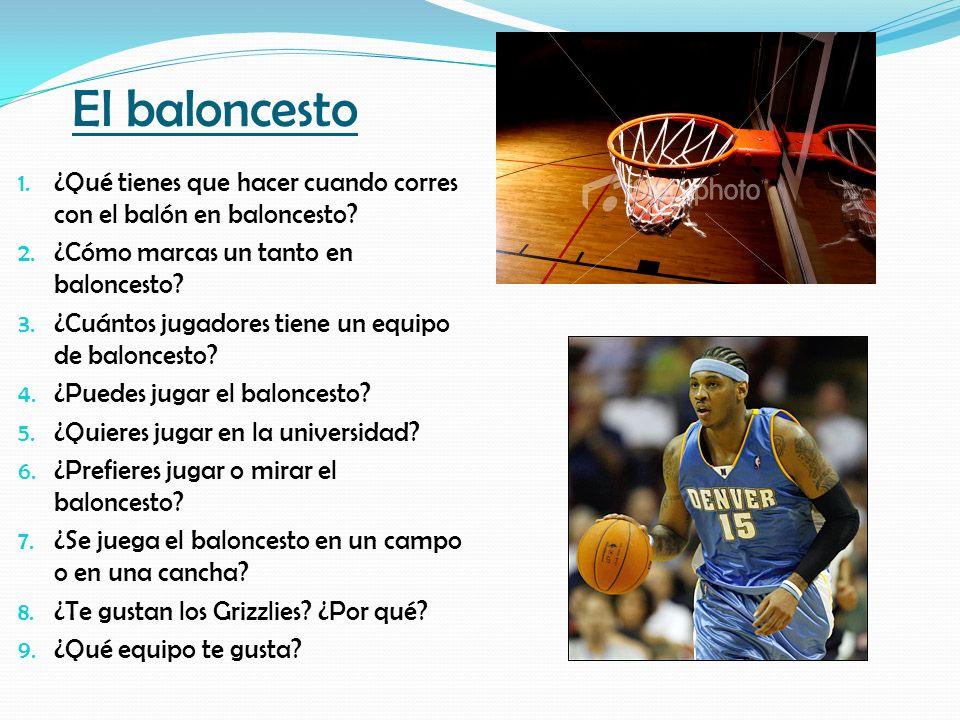 El baloncesto ¿Qué tienes que hacer cuando corres con el balón en baloncesto ¿Cómo marcas un tanto en baloncesto