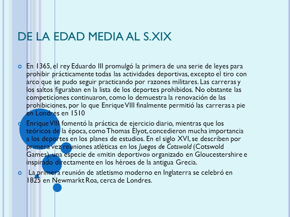 DE LA EDAD MEDIA AL S.XIX