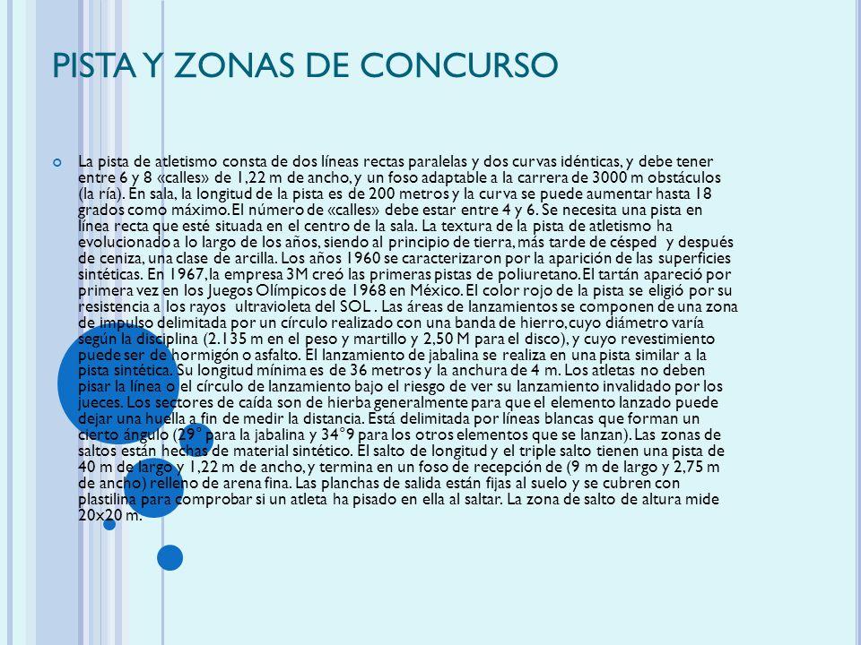 PISTA Y ZONAS DE CONCURSO