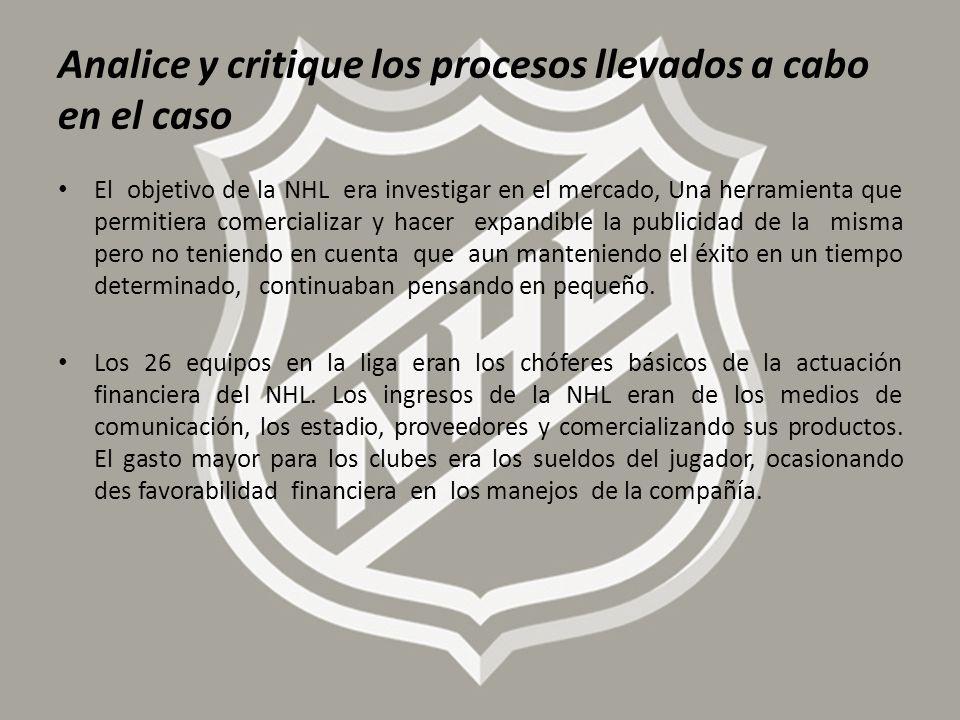 Analice y critique los procesos llevados a cabo en el caso