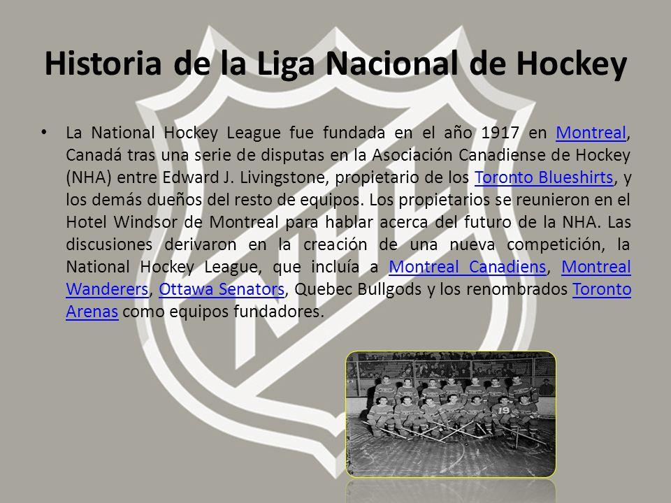 Historia de la Liga Nacional de Hockey
