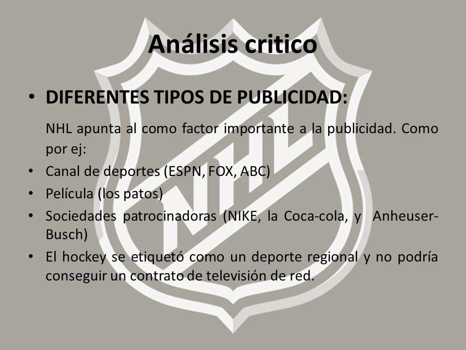 Análisis critico DIFERENTES TIPOS DE PUBLICIDAD: